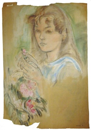 Emily with Flowers, c. 1932, 1932