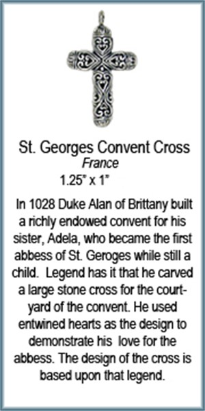 Pendant - Silver Cross of St George Convent  6941, 2019