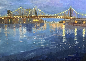 Twilight Over Queensborough Bridge