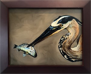 Heron and Fish 1