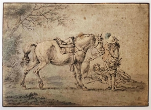 HORSE AND RIDER, Dutch, 17th century