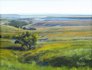 Flint Hills Pasture by Peggy Lyon