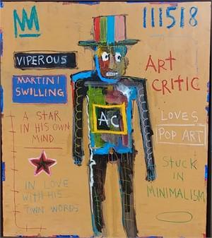 Viperous, Martini Swilling Art Critic, 2018