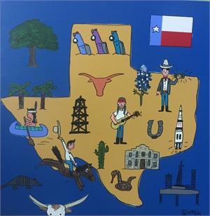Texas Map , 2019