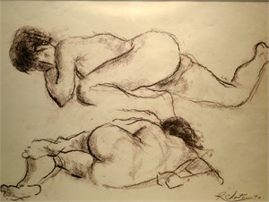 Reclining Nude (two figures), 1970