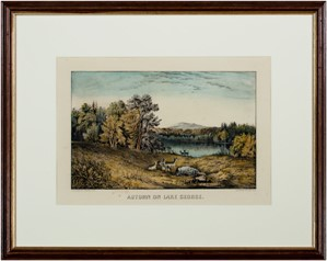Autumn on Lake George (Deer), c.1857
