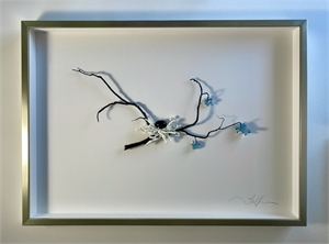 Nested Branch with Blue Blossoms by Fallon Bartos