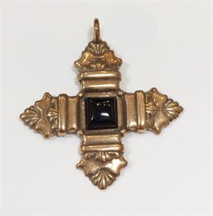Pendant - Bronze Cross of St. Thomas With Onyx 9333, 2019