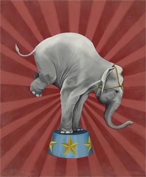 Circus Elephant by Lisa Humphreys