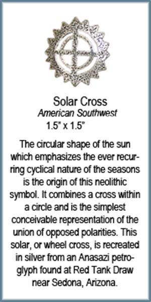 Pendant - Silver Solar Cross  6229, 2019