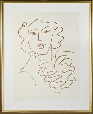 Woman w/Ruffled Blouse & Open Collar (from Florilege des Amours de Ronsard Portfolio), 2007