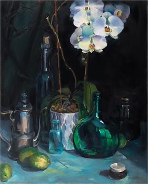 """ALICE HAUSER, """"Orchids Still"""""""