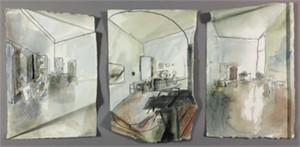 Untitled interior (triptych), 2015