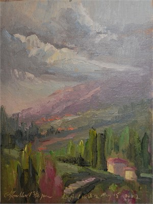 Stormy Skies Over South of France, St. Paul de Vence