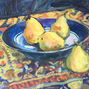 Rainy Day Pears by Nan Cunningham