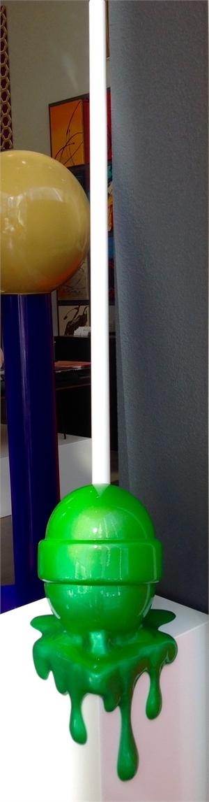 Green Ombre Corner Drip Lollipop, 2019