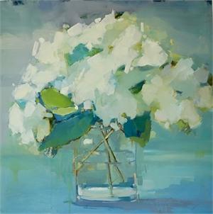 Hazy Hydrangeas by Kathleen Broaderick