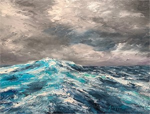 Caribbean Swells 1 by James Scoppettone