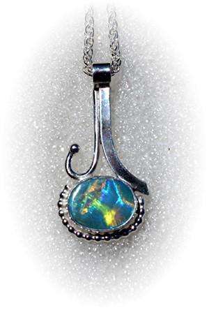 Opal Pendant on Sterling Silver Chain, 2018