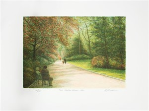 Park Figures (suite of 2) Two Standing Men & Two Seated Women by Harold Altman