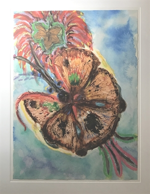 Giant Hybrid Hibiscus Butterfly with Flower (AP I/XXV), 2004