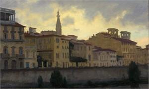 Predawn on the Arno