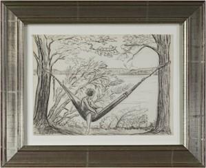 Girl in Hammock - Big Cedar Lake, c.1927