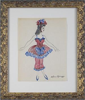 Woman In Fancy Costume Estate #752, c.1950