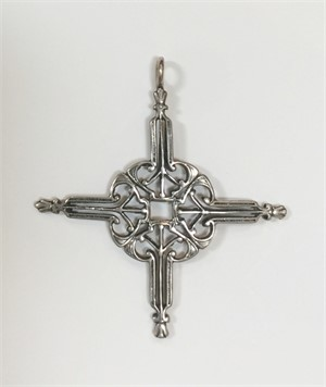 Pendant - Silver St Clotilde Cross 7326, 2019