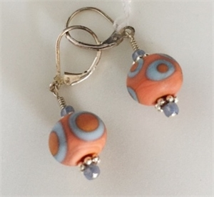 Earrings - Lampwork Beads & Sterling  #126, 2020