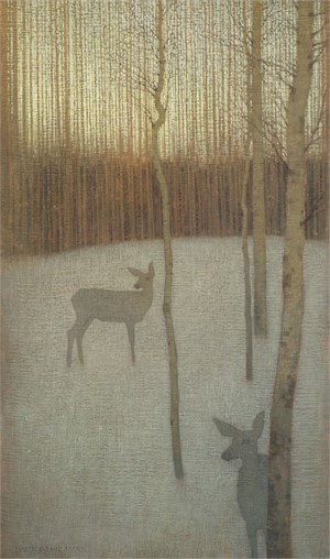 At Dusk in the Winter Forest