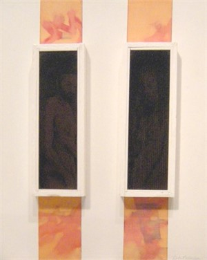 Assemblage w 2 Figures in 2 Windows, 1968