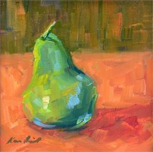 Pear on Orange