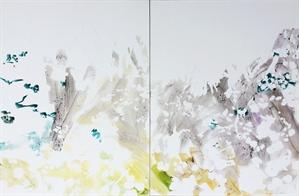 Jasmine Hill (Diptych) by Annie Kammerer Butrus