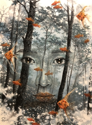Face in Forest, 2019