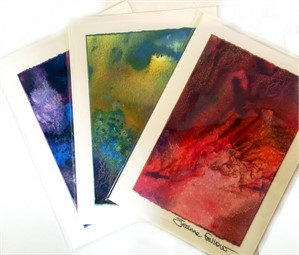 Card - Handpainted Mini Artscapes by Jeanne Fellow