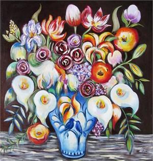 Flowers in a Bird Vase