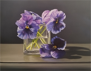 Pansies in Vase, 2020