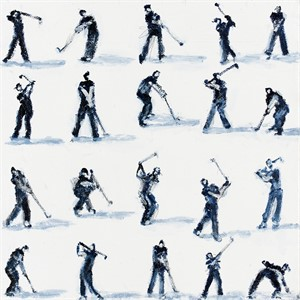 Blue and White Golfer Study, 2018