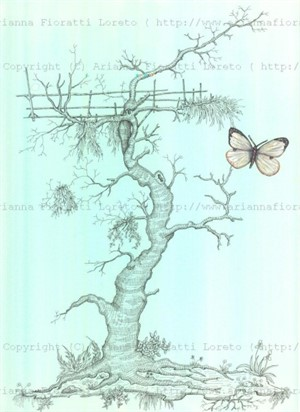 Gnarled Tree with Butterfly, 2013
