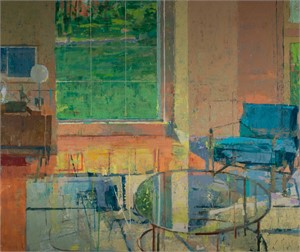 Interior with Blue Chair by Chris Liberti