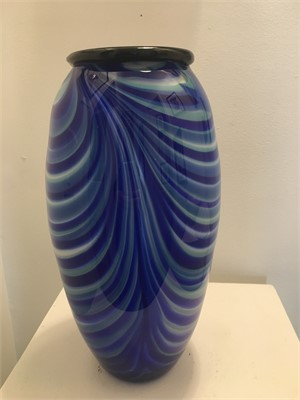Blue Swirl Tall Vase, 2019