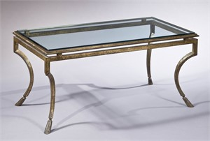 GILT METAL LOW TABLE, French, 20th century