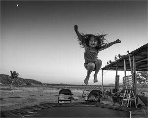 Girl & Trampoline by Kevin Greenblat