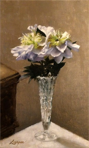 Peonies in a Crystal Vase
