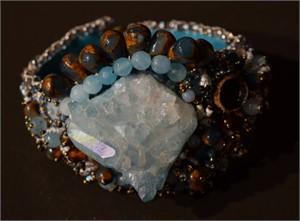 Aqua Marine Crystal Bracelet