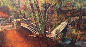 Stone Stairway and Bridge