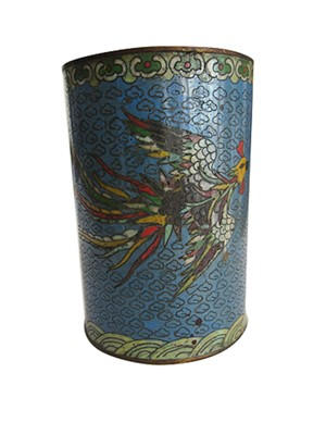 Chinese Cloisonne Brushpot, late19th c