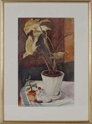 Still Life with Plant & Ceramic Animal, c.1940's