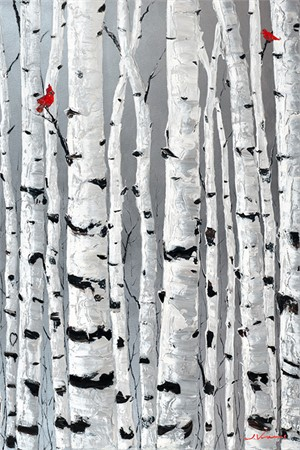 Love Birds (Vertical) by Jennifer Vranes